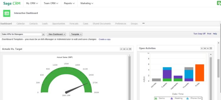 Sage CRM user display