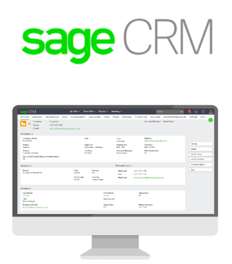 sage crm interface new