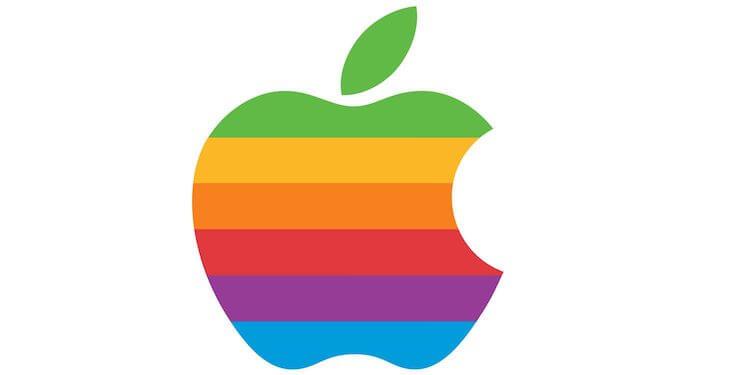 Apple logo rainbow style