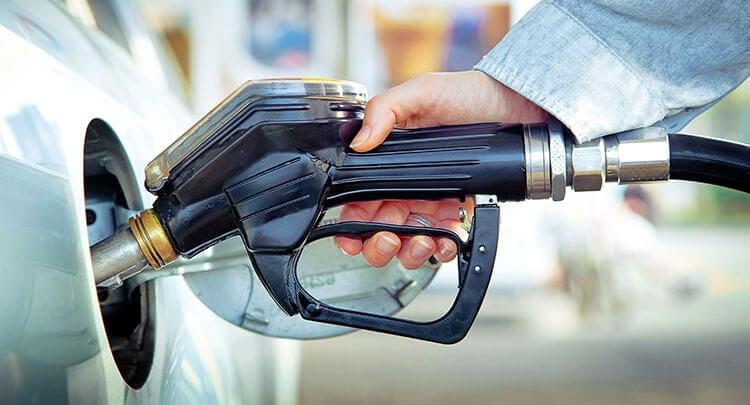 Driver using a petrol pump