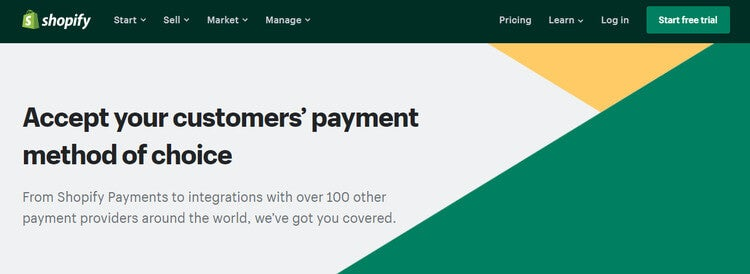 Shopify payment processors