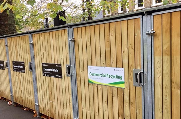 Commercial recycling and commercial waste sheds