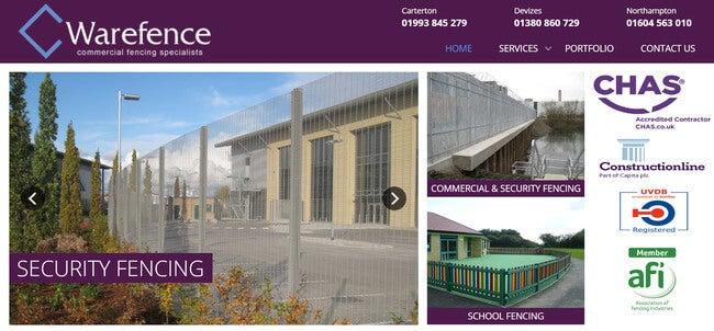 brochure website example