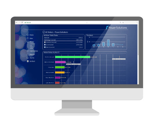 Power Solutions monitoring dashboard