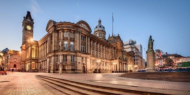 Birmingham lit up