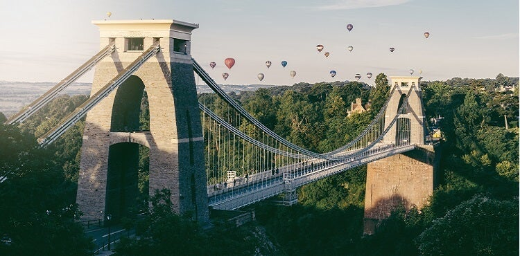 Bristol with balloons