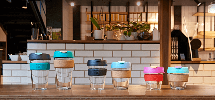 KeepCup reusable coffee cups of varying size