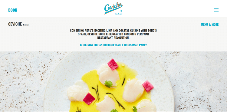 Ceviche website screenshot