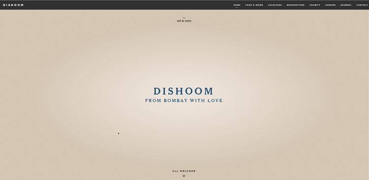 Dishoom website screenshot
