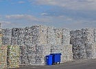 Layers of recycled waste