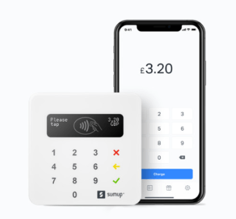 SumUp card reader with mobile app