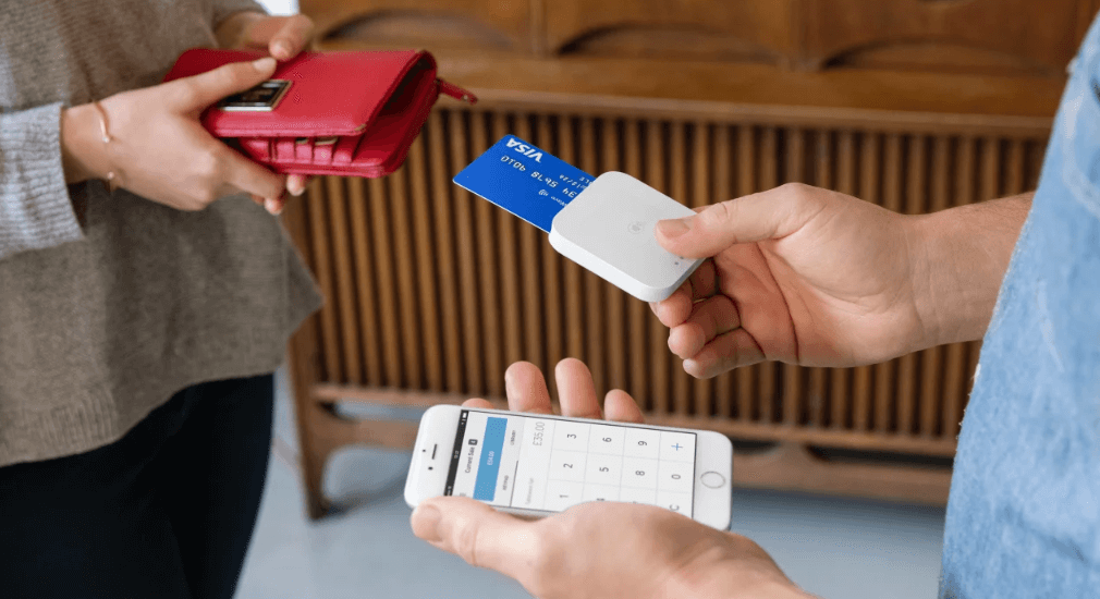 Taking payments with Square credit card reader