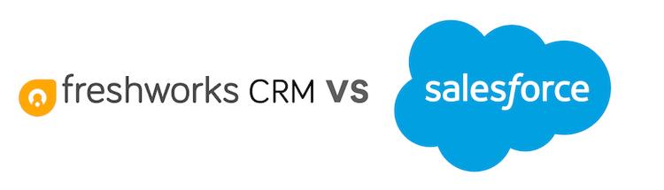 Freshworks CRM vs Salesforce logos