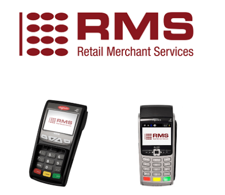 RMS logo and card machines