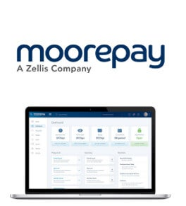 Moorepay logo and interface
