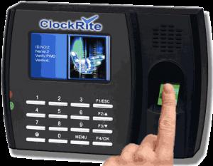 clockrite fingerprint clocking in terminal