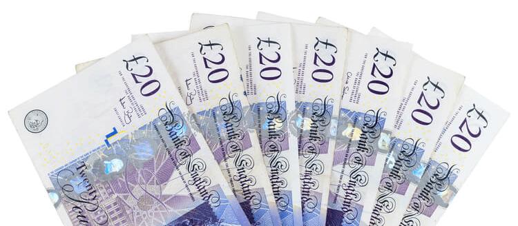 Multiple £20 bills