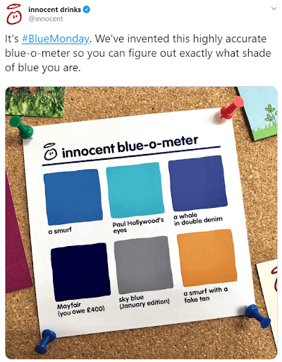 Innocent smoothies content marketing twitter post