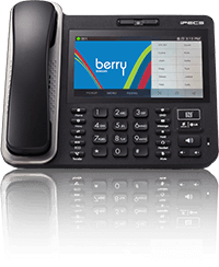 Berry Technologies Cloud Phone System on a desk phone