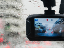 Dash cam in use on a rainy day