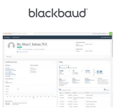 Blackbaud higher education CRM interface