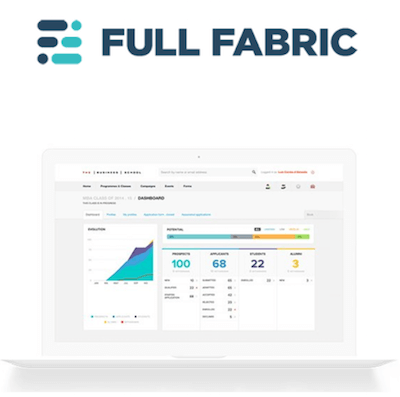 Full Fabric higher education CRM logo and interface