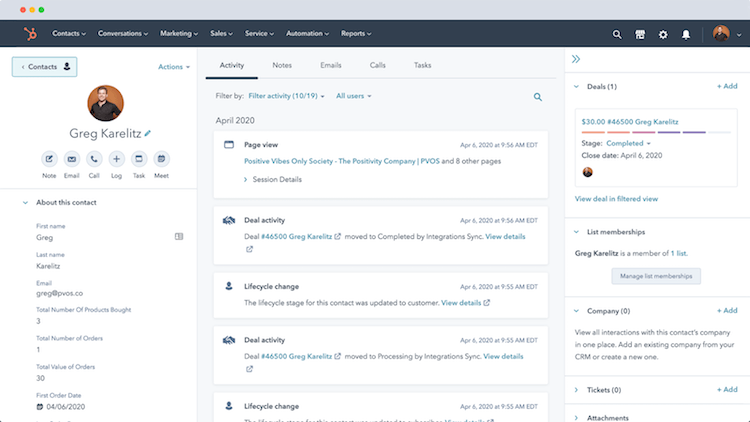 HubSpot CRM customer interaction tracking strategy
