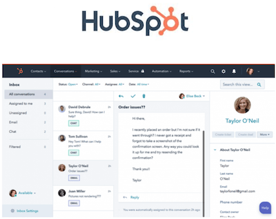 HubSpot higher education CRM interface