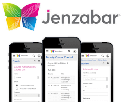 Jenzabar One higher education CRM interface