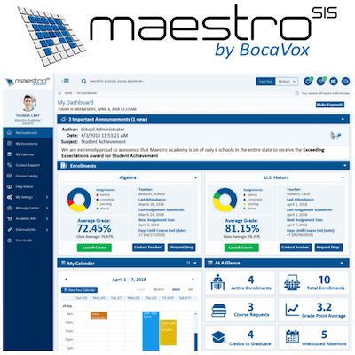 Maestro by BocaVox higher education CRM interface