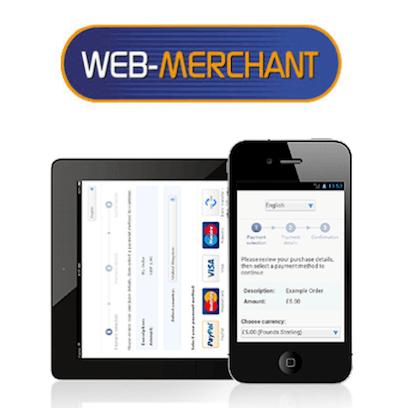 Web-Merchant Services virtual terminal logo and interface