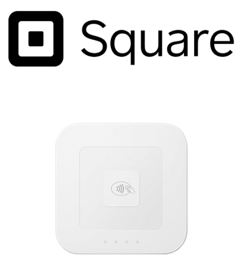 Square mobile card reader and logo