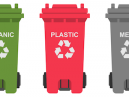 Colour-coded business recycling containers