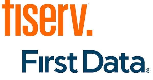 First Data rebranded as Fiserv logo