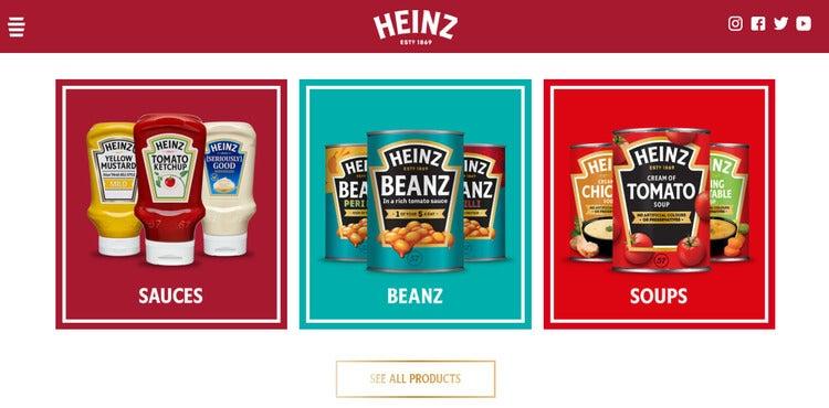 heinz shopify screenshot