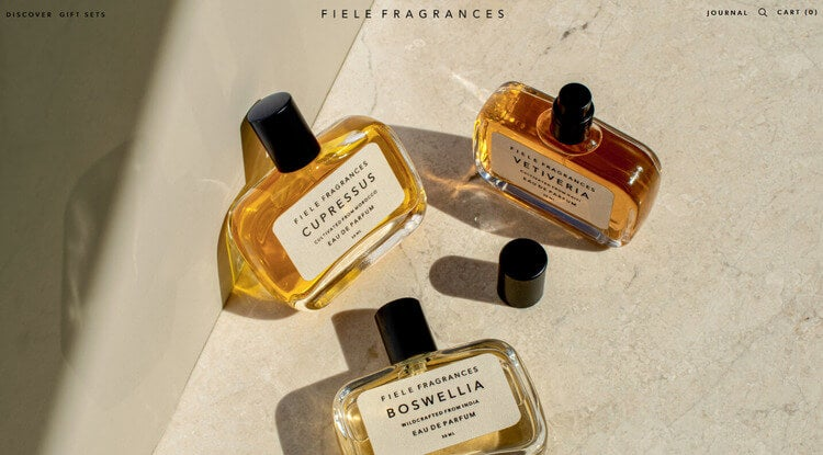 Fiele Fragrances squarespace example site