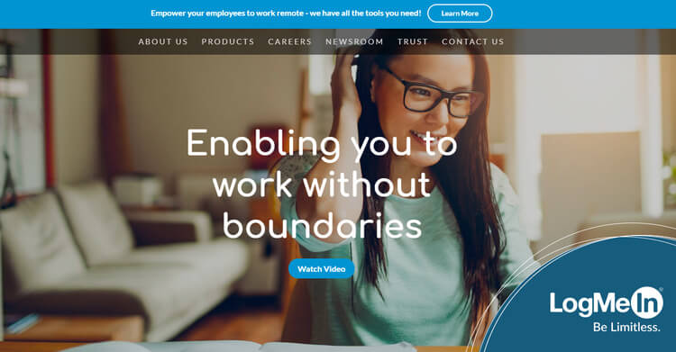 logmein wix homepage