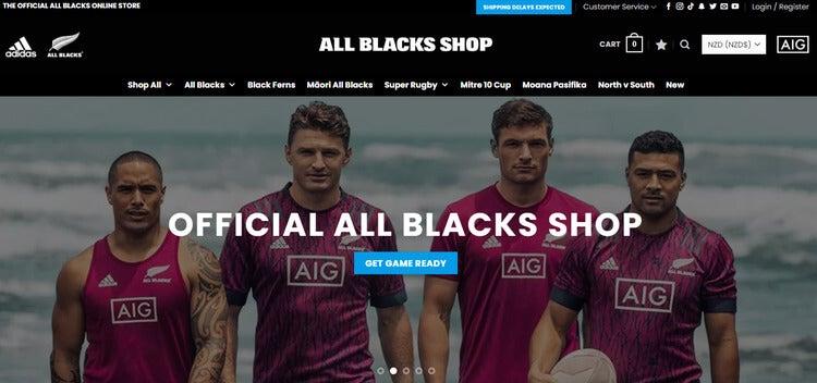 all blacks shop woocommerce screenshot