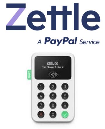 Zettle logo and mobile card reader