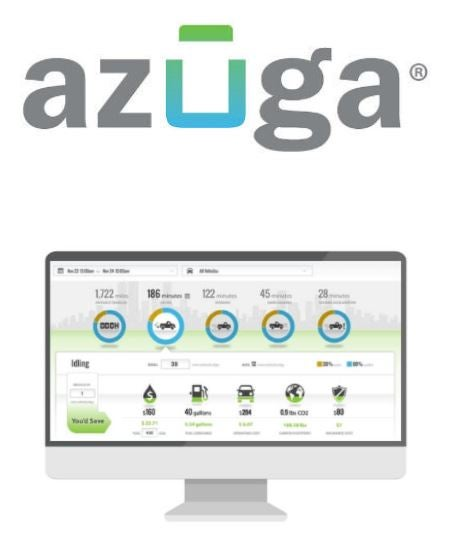 Azuga logo and software