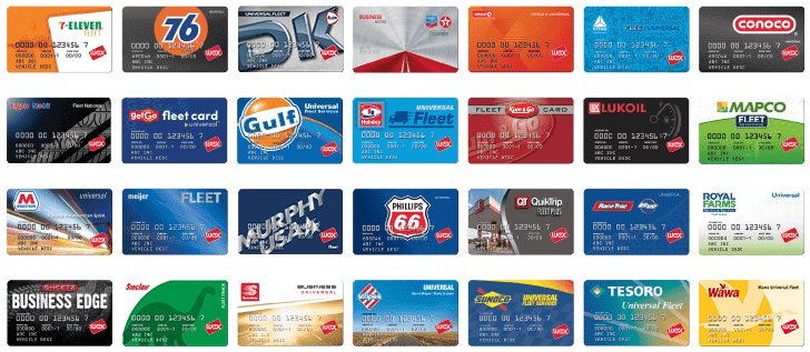 Some of WEX's partner-branded cards