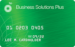 The BP Business Solutions Plus Card