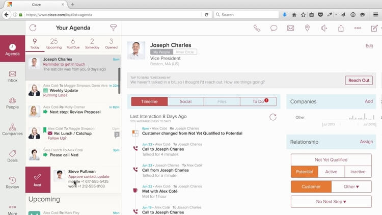 cloze crm features and benefits
