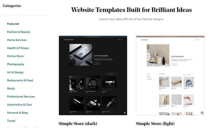 Godaddy templates