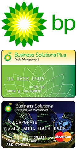 BP logo and fuel cards