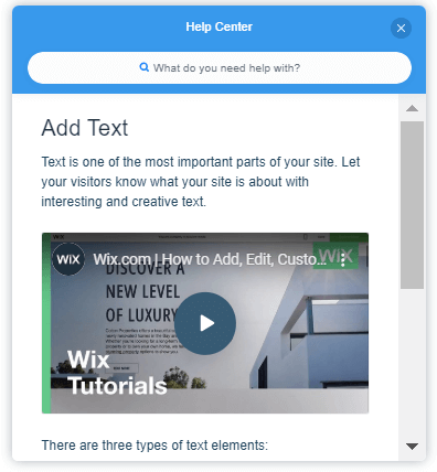 wix help center