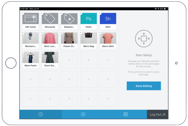 square point of sale app interface