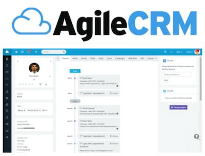 AgileCRM CRM logo and interface