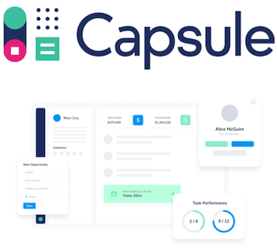 Capsule CRM logo and interface