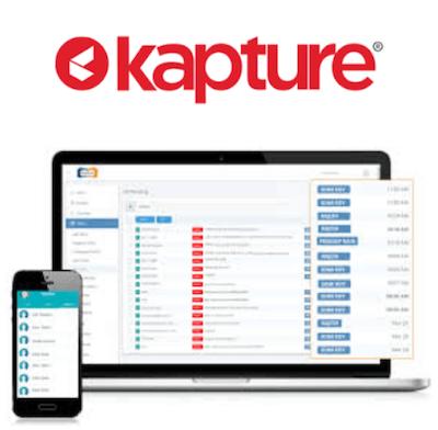 Kapture CRM logo and interface